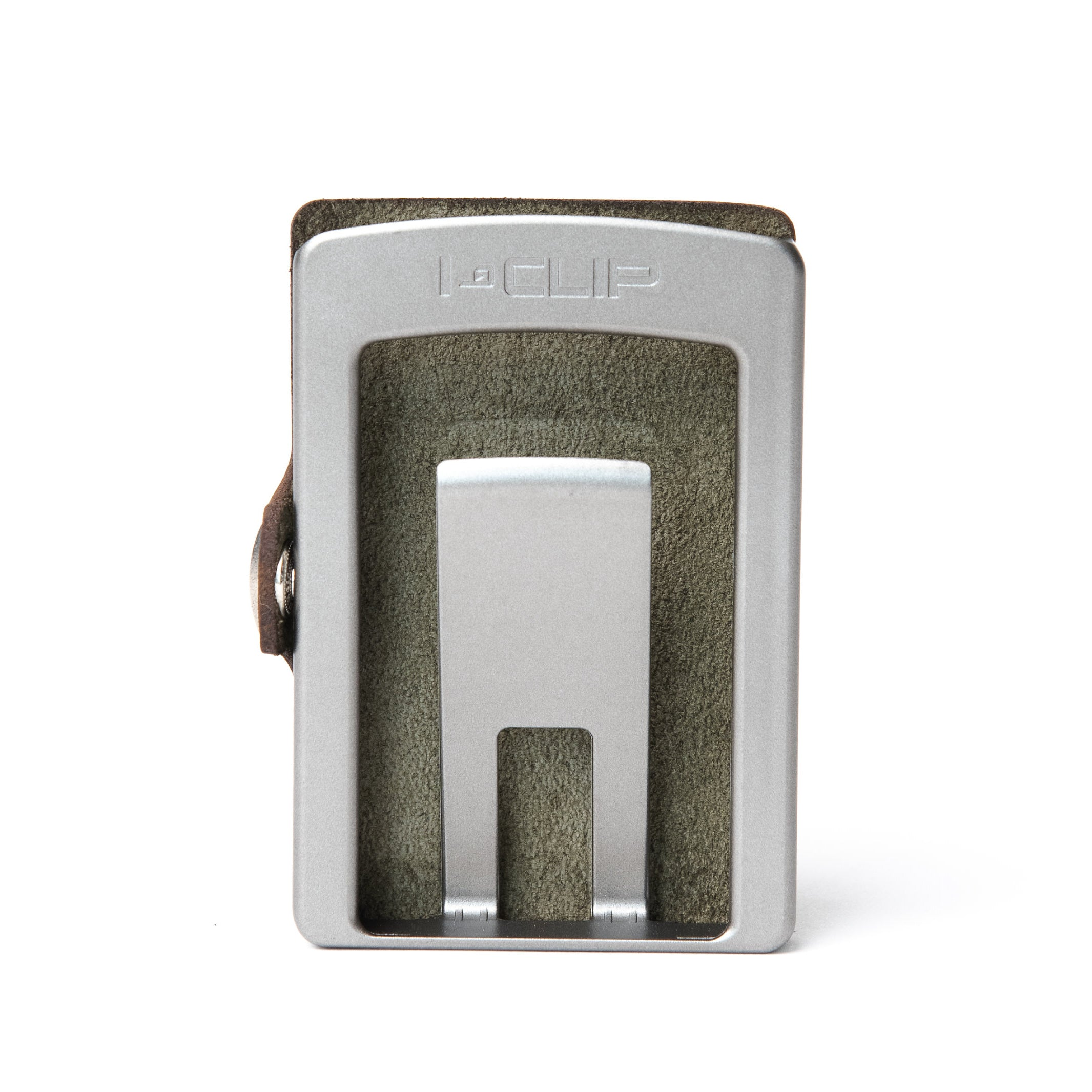 I-CLIP - Soft Touch Leather - Olive / Metallic Gray Frame - I-CLIP