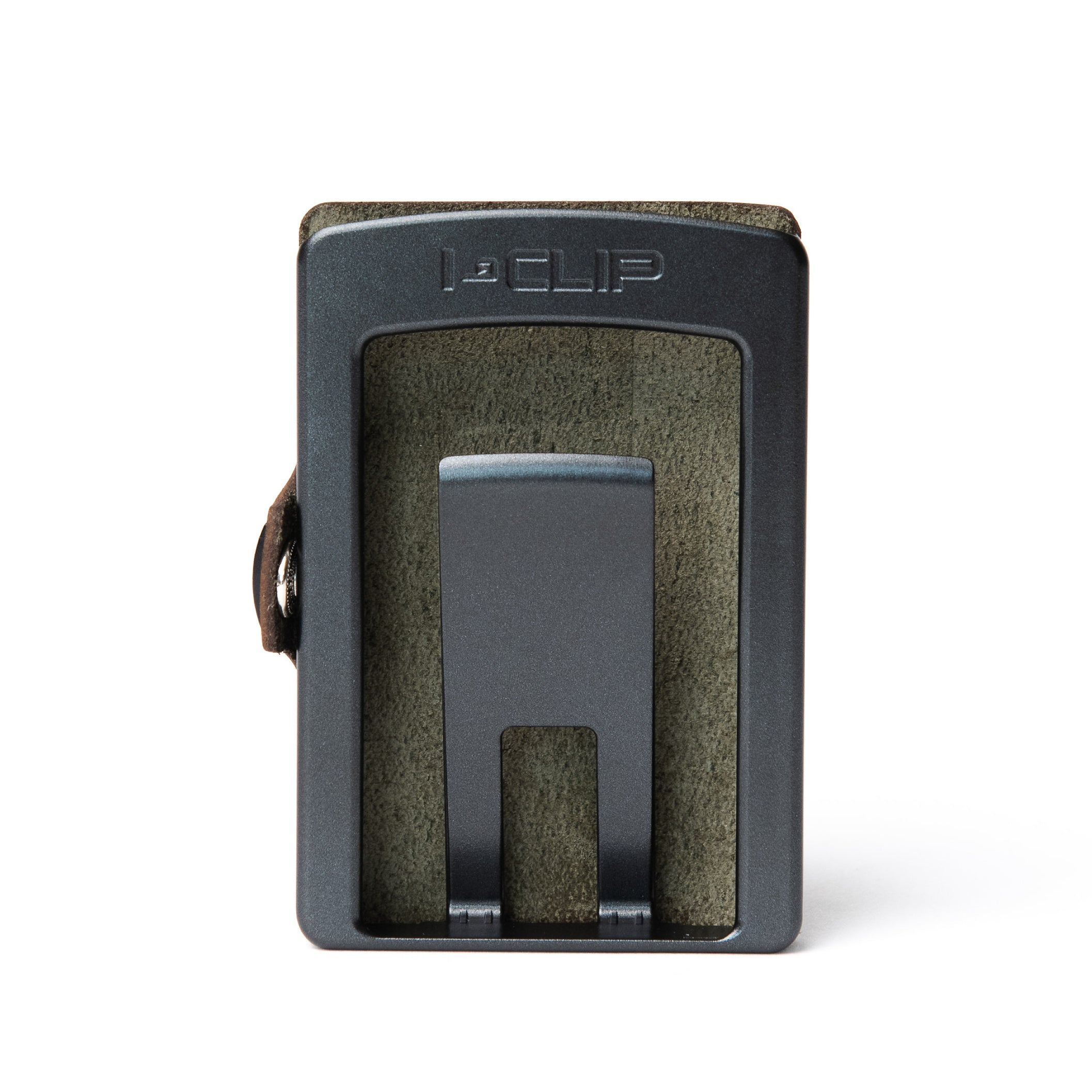 Soft Touch Leather - Olive / Gunmetal Black Frame - I-CLIP