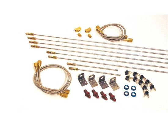 Longacre Complete Steel Brake Line Kit