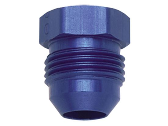 Fragola Aluminum AN Adapters - Flare Plugs - Blue/Black