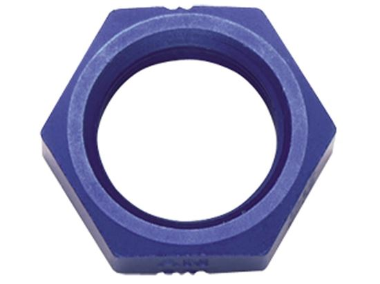 Fragola Aluminum Bulkhead Nuts - Blue/Black