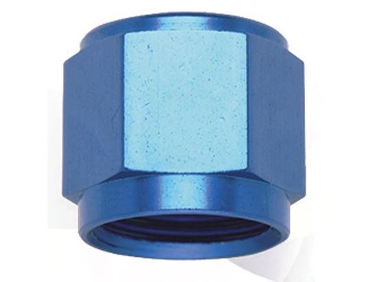 Fragola Aluminum AN Adapters - Flare Caps - Blue/Black