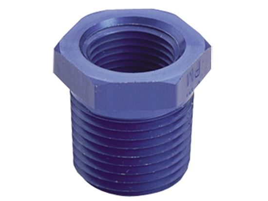 Fragola Aluminum AN Adapters - Pipe Bushing Reducer - Blue/Black