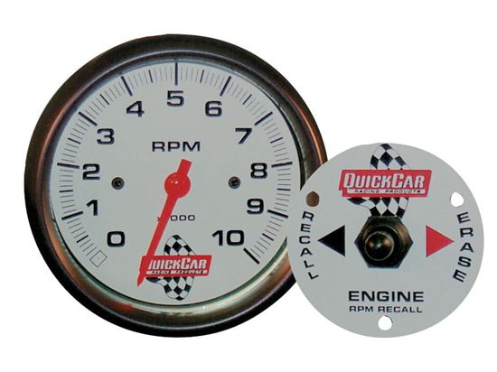 "QUICKCAR TACH - 3 3/8"" WITH REMOTE RECALL"