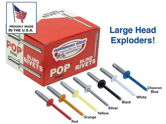 "POP Rivets - 3/16"" Exploding Rivets Boxes of 250"