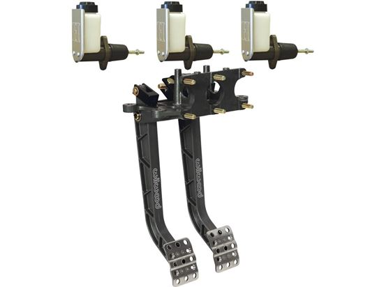 Wilwood Dual Adjustable Pedal Kit - Reverse Mt w/Howe Master Cylinders
