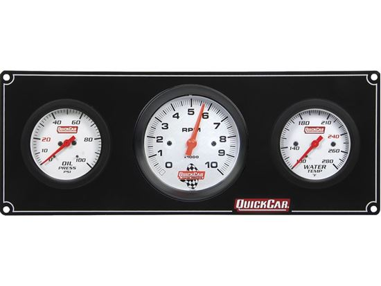 "QuickCar Extreme Gauge Panels with 3"" Tach"