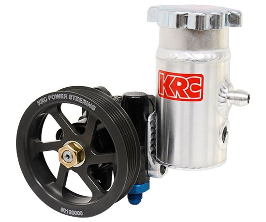 KRC Cast Power Steering Pump with Bolt-On Tank Pulley