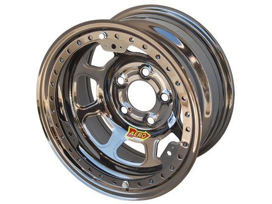 "AERO 53 Series - Colored Chrome 15"" x 8"" Beadlock Wheels - IMCA"