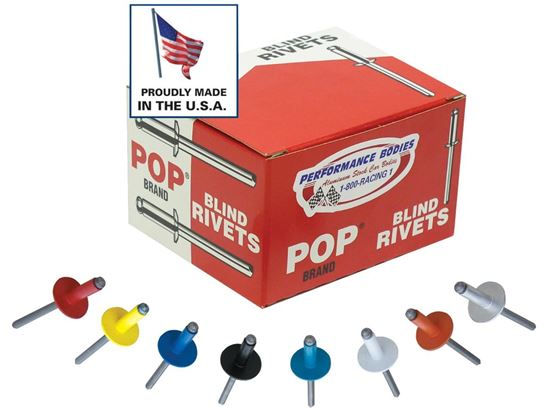 "POP Rivets - 3/16"" And 1/8"" Rivets Boxes of 250"