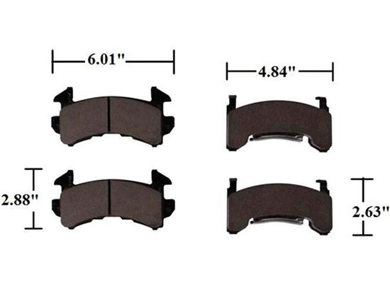 AFCO Brake Pads - GM Metric Axle Sets