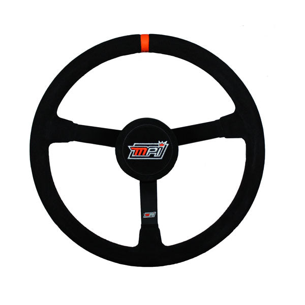 "MPI - Late Model Steering Wheel - 15"" w/ Suede Grip + Center Pad"