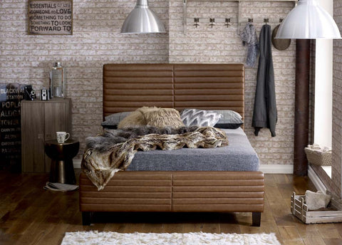Himalia Faux Leather Bed