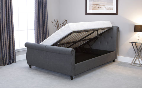 Soho Sleigh Fabric Storage Bedstead