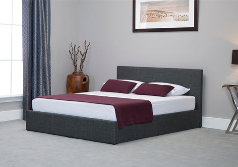 Stirling Grey Fabric Storage Bedstead
