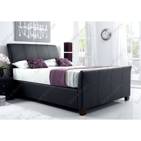 Allendale Leather Storage Bed