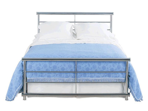 Andreas Chrome Finish Metal Bed