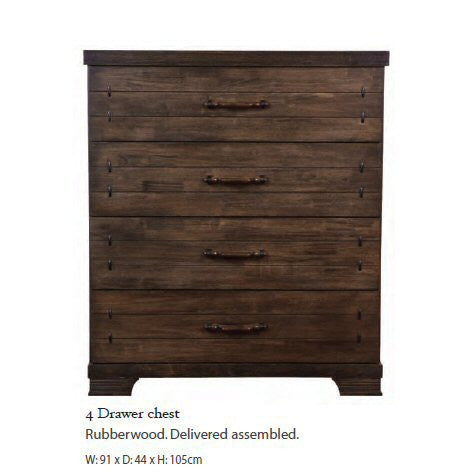 Chopin Rubberwood Wooden Bedroom Furniture