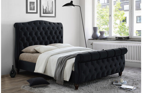 Colorado Black Velvet Bedstead