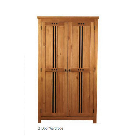 Curlew Wooden Pine Bedroom Furniture finished in oak effect