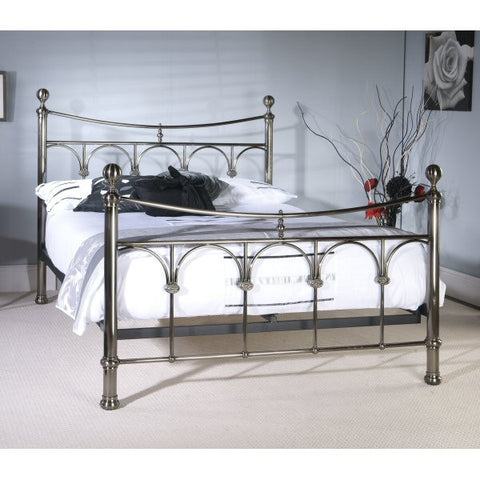 Gamma Antique Nickel Metal Bed