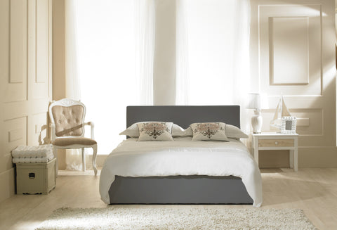 Madrid Grey Faux Leather Storage Bedstead
