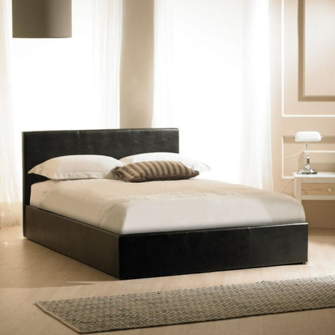 Madrid Black Faux Leather Storage Bedstead