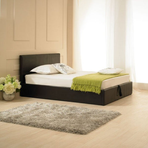 Madrid Brown Faux Leather Storage Bedstead