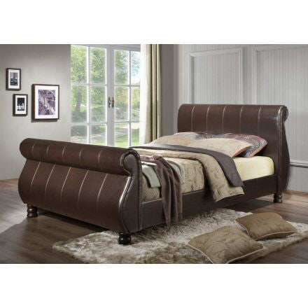Marseille Faux Leather Bed