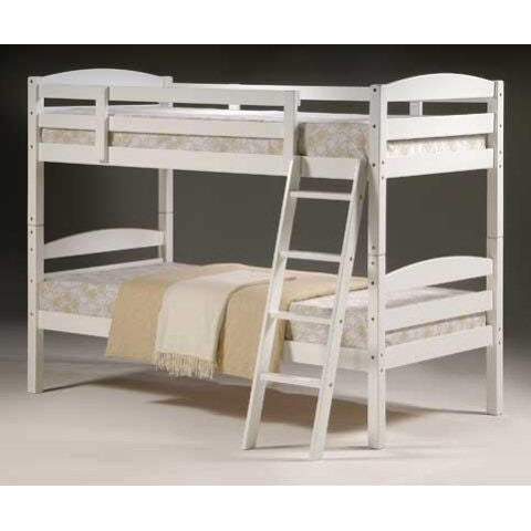 Modern White Hardwood Bunk Beds