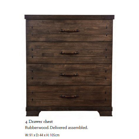 Mozart Rubberwood Wooden Bedroom Furniture