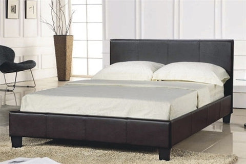 Oslo Faux Leather Bed with FREE mattress