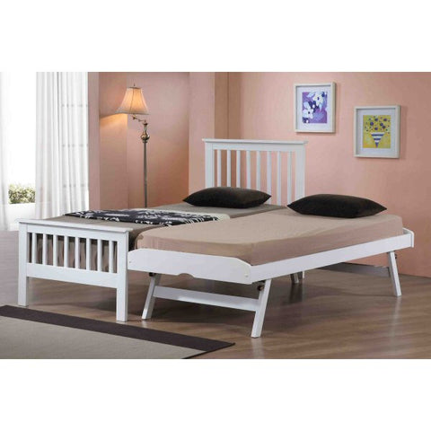 Pentre White Wooden Guest Bed