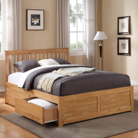Pentre Oak Bedstead with Two Drawers