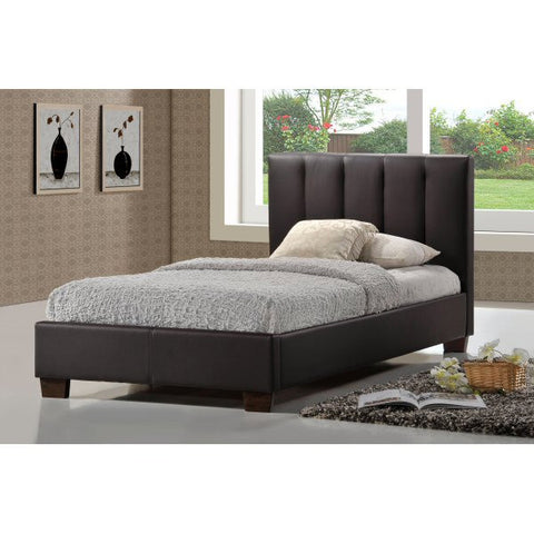 Pulsar Brown Faux Leather Bed