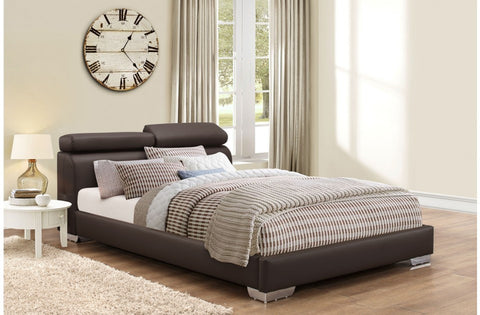 Signature Faux Leather Bed