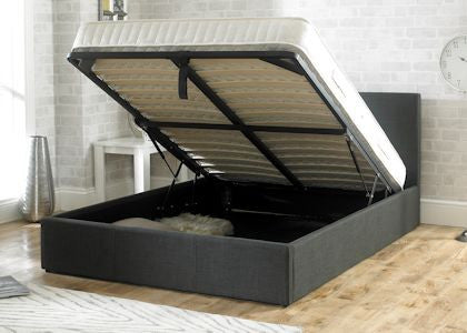 Stirling Charcoal Fabric Storage Bedstead