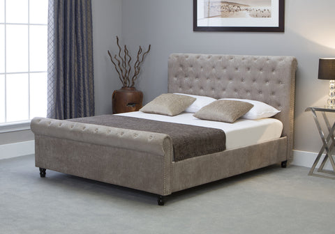 Oxford Stone Ottoman Scroll Bedstead