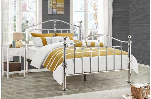 Victoria Chrome Metal Bed
