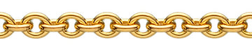 Round Ancher chain - Gold-plated silver
