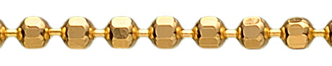 Ball chain - Gold-plated silver