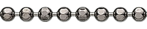 Ball chain - black rhodinated silver
