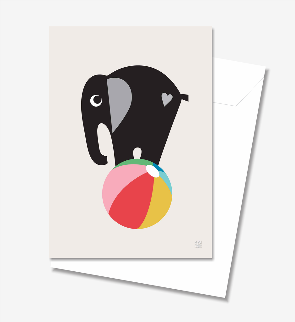 Elephant - Greeting Card A5