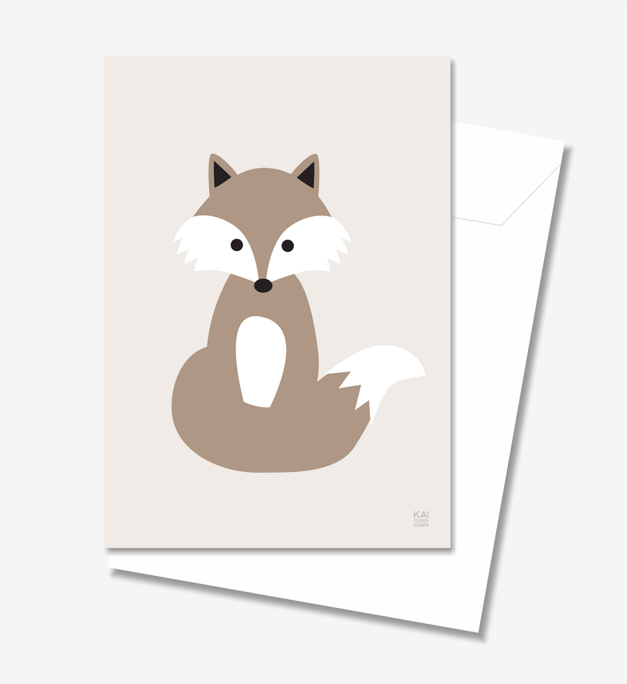 Fox  - Greeting Card A5