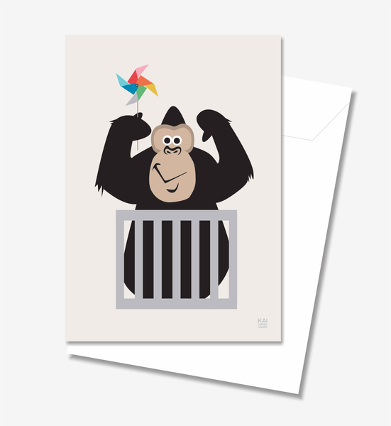 Gorilla  - Greeting Card A5
