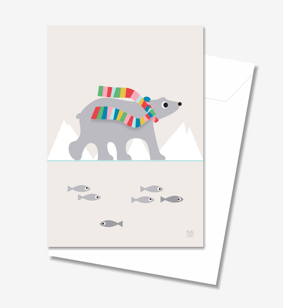 Polar Bear  - Greeting Card A5