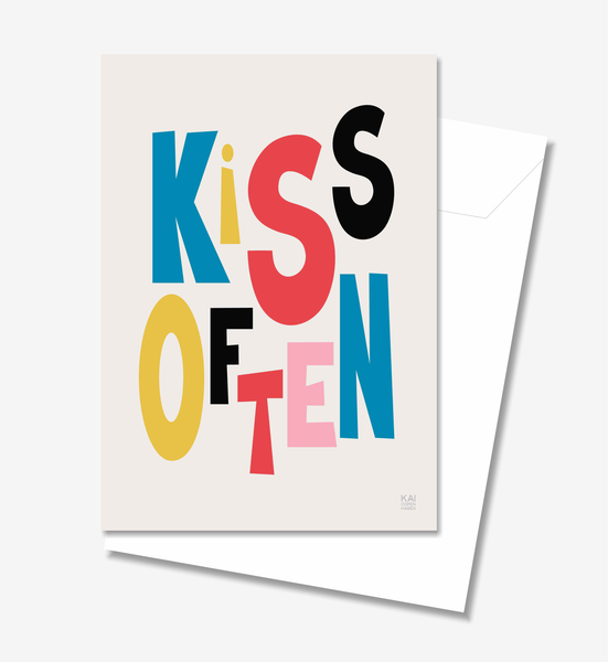 Kiss Often  - Greeting Card A5