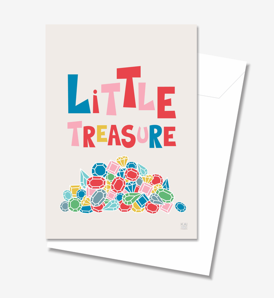 Little Treasure  - Greeting Card A5