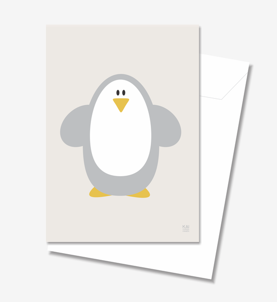 Penguin  - Greeting Card A5