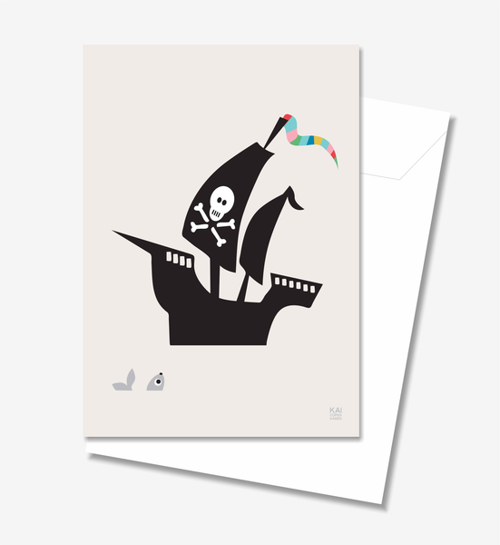 Ship  - Greeting Card A5